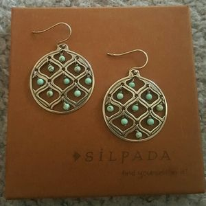 Silpada Sterling Silver and Howlite Earrings